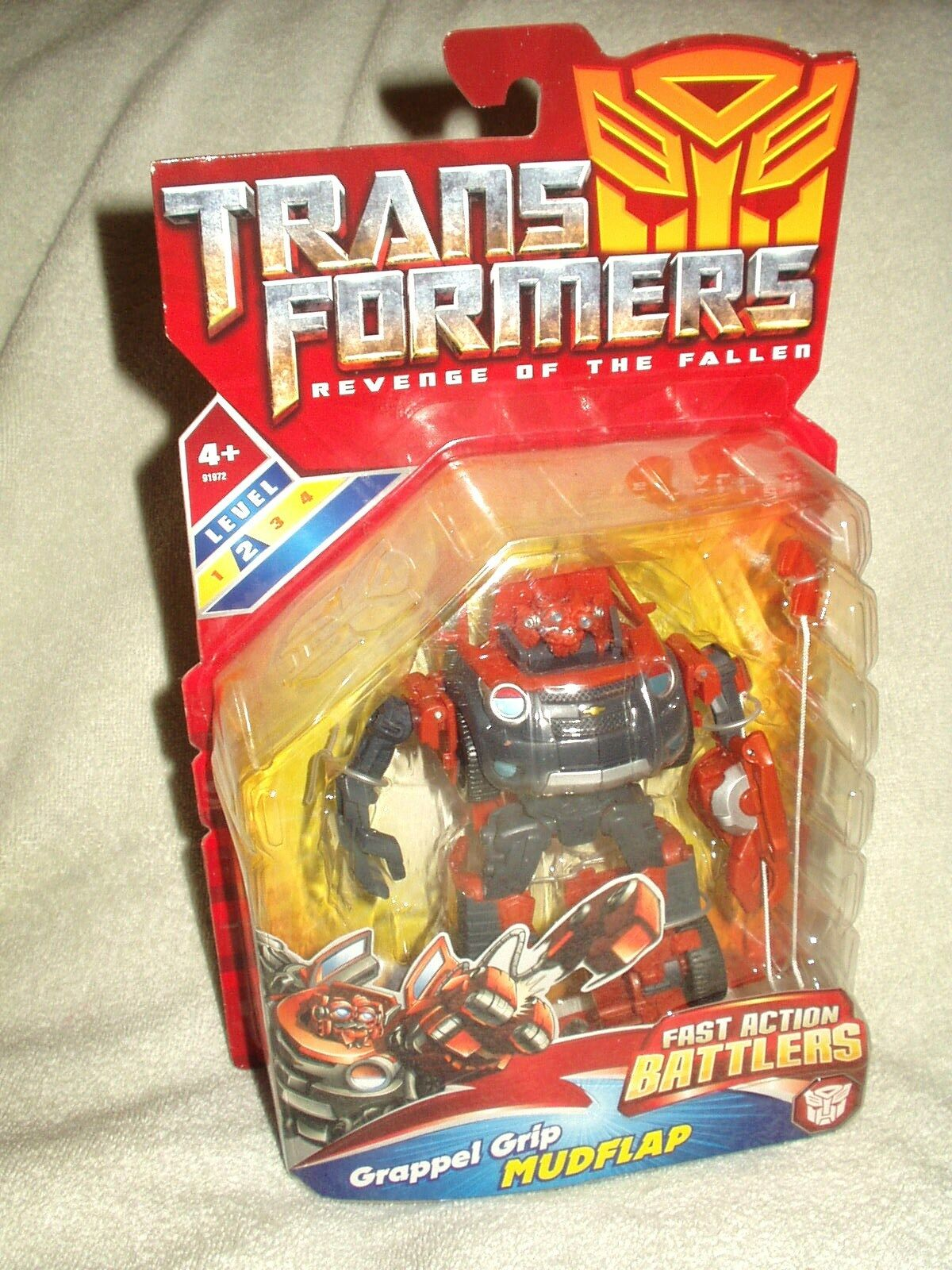 Transformers Action Figure redF Movie Fast Action Battlers Mudflap 6-7 inch
