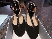 Jacques Levine Black Enlighten Espadrilles Size 9 with Box - Wedge Shoe - Nice!