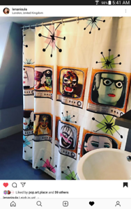 Leigh-Bowery-Retro-Television-Shower-Curtain-Wall-Hanging-Taboo-Boy-George