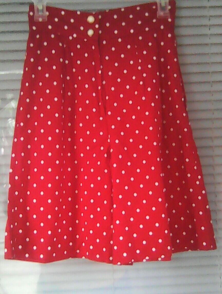 VTG Geary Roark Kamisato Polka Dot Shorts Red Women's Size 6