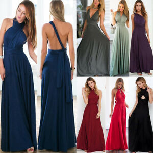 Womens-Evening-Dress-Convertible-Multi-Way-Wrap-Bridesmaid-Formal-Long-Maxi-Gown