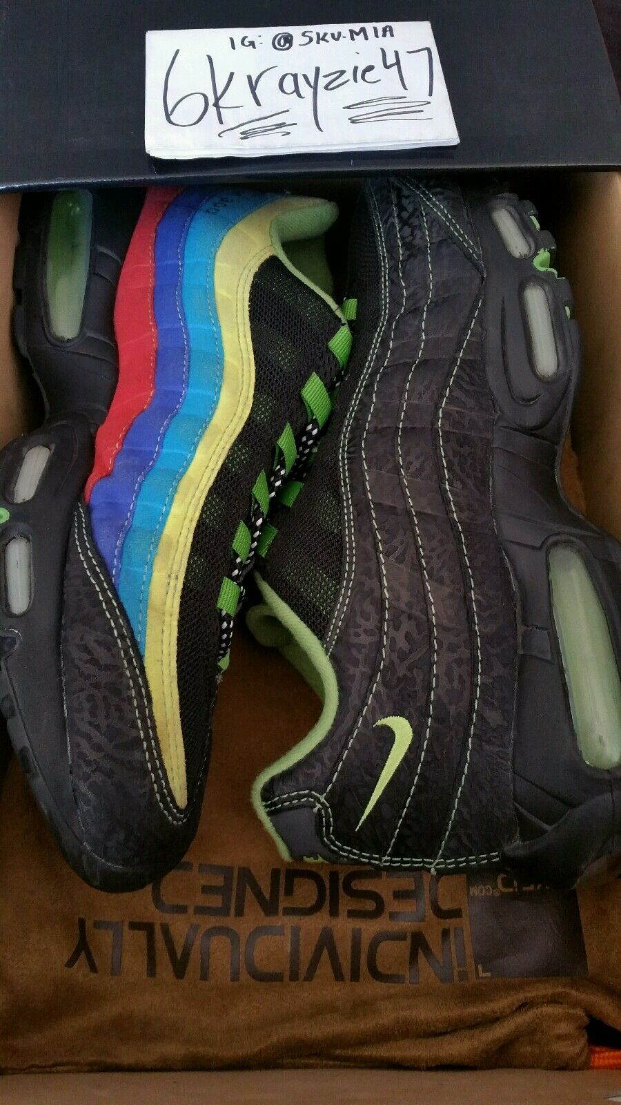 VNDS 2006 Nike Air Max 95  Sole Collector Cowboy  ONLY 300 PAIRS  Atmos Animal