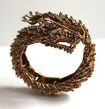 Butler & Wilson Gold Kristall Chinesisch Drachen Wickel Armreif Armband NEU