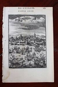 1683-MANESSON-MALLET-belle-vue-de-la-vie-de-PALERME-Sicile-Italie