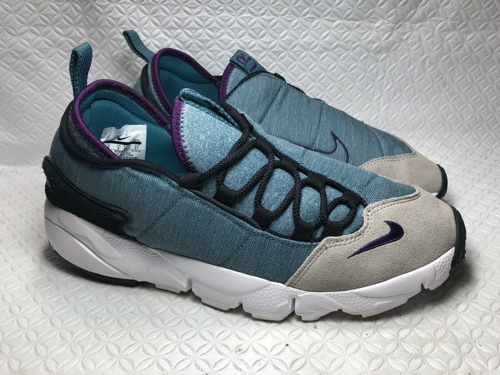 Nike Air Footscape Iced Jade  Night Purple Lace Up Running  Trainers shoes Sz-9