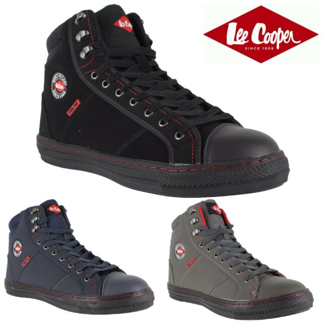 MENS LEE COOPER LEATHER SAFETY WORK BOOTS STEEL TOE CAP SHOES TRAINERS SIZE 3-13