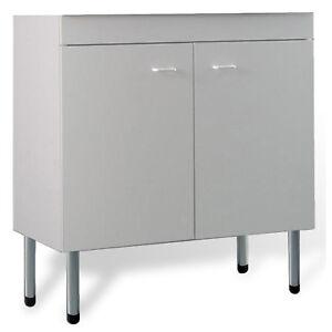 Mobile cucina sottolavello bianco 80x50 cm a 2 ante per lavelli in acciaio inox ebay - Mobile sottolavello cucina ...