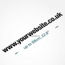 Website Address Bikecarvanshopwindowwalllaptop Vinyl Sign Decal Sticker
