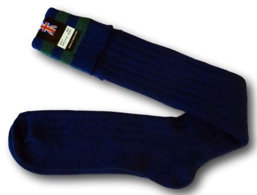 Traditional Royal Blue Boy Scout Uniform Knee Length Socks Green Trim Rings