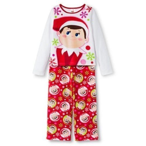 ELF on the SHELF Pajamas Size 6,8 Small-Medium Girl Christmas socks #sELFie NEW