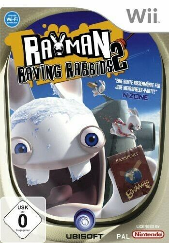 Nintendo Wii jeu - Rayman Raving Rabbids 2 ANG AL/ANG dans l'emballage utilisé