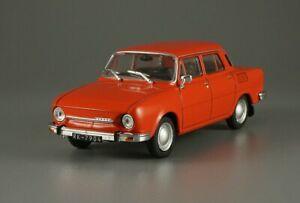 koda-100-Skoda-Red-Saloon-USSR-1969-Year-1-43-Scale-Collectible-Model-Car