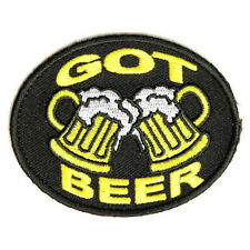 Embroidered Got Beer With Glasses Iron on Sew on Biker Patch Badge