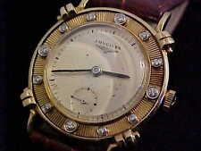 Vintage Longines 14 karat Gold Diamond Bezel Knotted Lug Wristwatch