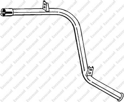Abgasrohr für Abgasanlage Hinterachse BOSAL 318-263