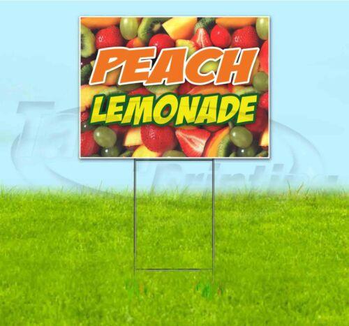 PEACH LEMONADE 18x24 Yard Sign WITH STAKE Corrugated Bandit USA BUSINESS TREAT