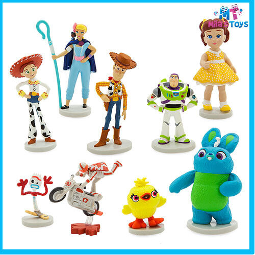Disney Toy Story 4 Deluxe 9 piece Figure Play Set cake topper brand new