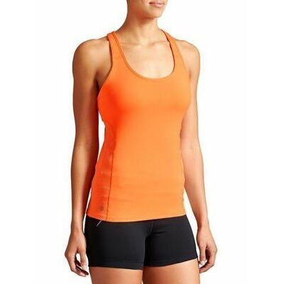 NEW Athleta Cosmic Orange Swift Tank Top Running Fitness  Sz. Large ~ Sold Out