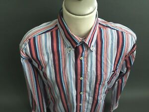 9b136e4c Details about Tommy Hilfiger 80's 2 Ply Fabric button Down Long Sleeve Shirt  men's Large L