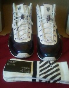 207efca31013f Details about New Nike Pippen VI 6 Mens White Purple Basketball Sneakers  Size 10 *Free socks