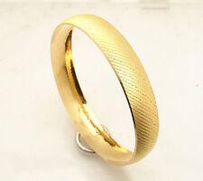 Textured Diamond Cut Bangle Bracelet Real 22K Yellow Gold 22 AYAR BILEZIK 19.1gr