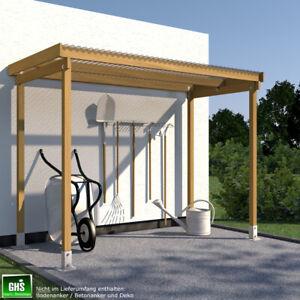 Unterstand 2.50 x 1.50 Überdachung für Gartengeräte, Grill oder Fahrrad