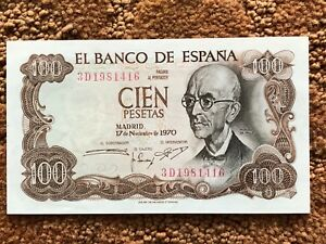 Spain 1970 100 Cien Pesetas Falla Banco de Espana Uncirculated BankNote Gift 416