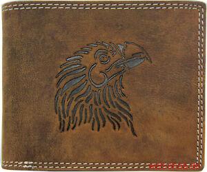 Hochwertige-Geldboerse-Geldbeutel-Portemonnaie-Bueffel-Leder-Adler-RFID-Schutz