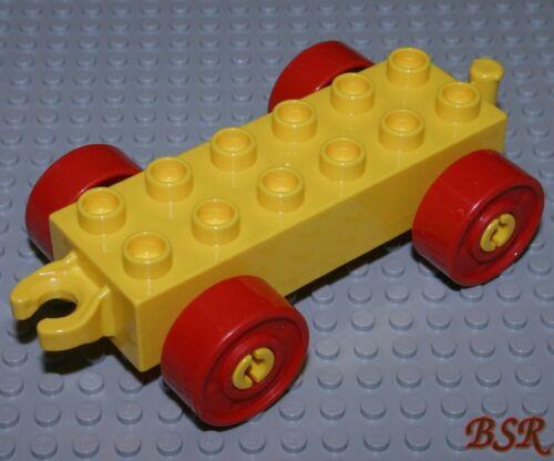 LEGO® DUPLO® Box 7 1 Anhänger Unterteil 2x6 Auto Lok Waggon in gelb /& NEU !