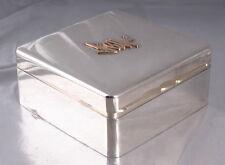 Silber Zigarrendose  Schmuck  Box  Etui mit Gold   silver cigar box  jewelry Box