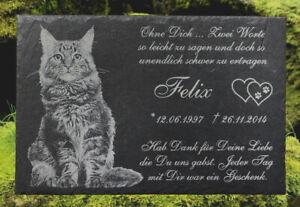Grabstein Tiergrabstein Gedenkstein Foto Gravur 20x30cm Granit K-03