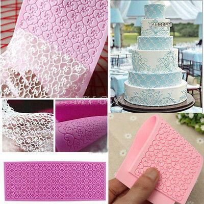 Sugar Craft Lace Silicone Mold Fondant Mat Mould Cake Decorating Baking Tool DIY