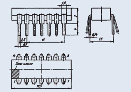 Microchip USSR  Lot of 50 pcs K553UD2 = LM201  IC