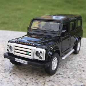 Land-Rover-Defender-5-3-034-Model-Cars-Gift-Alloy-Diecast-Pull-back-motor-Toy-Black