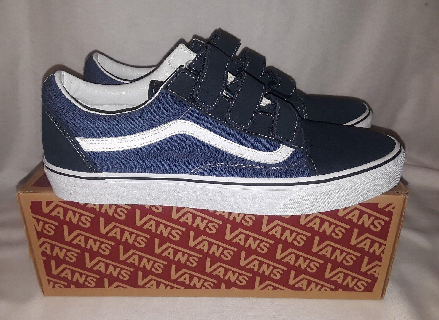 VANS Old Skool V Shoes Blue White 12