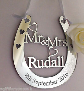 Personalised Wedding Good Luck Gifts : Personalised-Wedding-Mr-amp-Mrs-Good-Luck-Bridal-Gift-Lucky-Keepsake ...