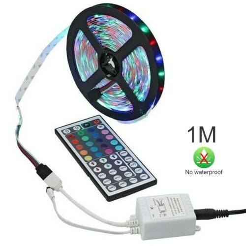 5M 10M 3528 5050 RGB LED Strip Light Multi Colored Activated Remote 12V New 2LED