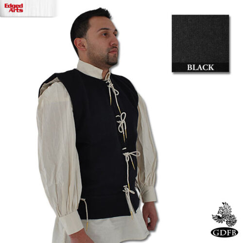 Renaissance Reenactment Larp Woollen Waist Coat Fancy Dress and Cosplay