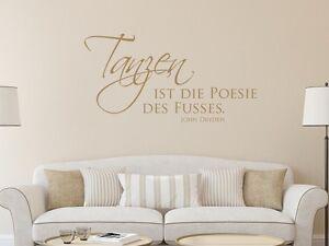 wandtattoo musik wandaufkleber f r m dchenzimmer tanzen ist spruch deko ebay. Black Bedroom Furniture Sets. Home Design Ideas