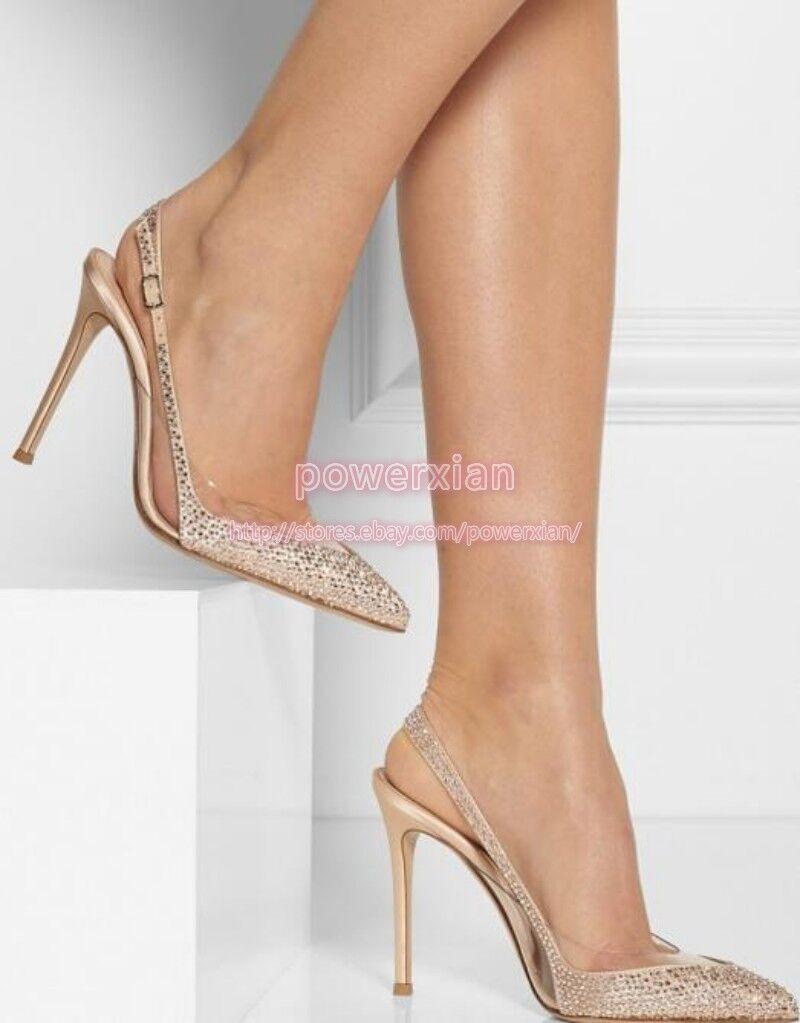 servizio di prima classe donna high Heels Pointy Toe Slingback Sandals Pumps Party Party Party Wedding scarpe Sz 5-8  qualità garantita
