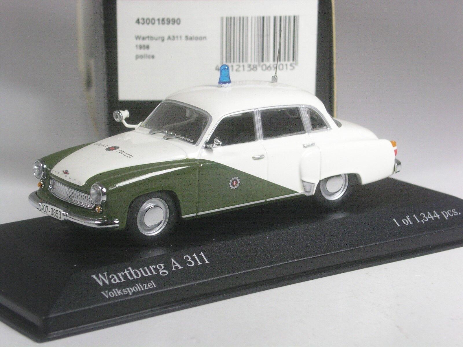 (KI-07-19) Minichamps Wartburg A 311 DDR Volkspolizei in 1 43 in OVP