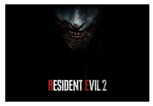 3 FREE 13x19 posters Resident Evil 2 Poster 21x37 Vinyl 13oz High Quality Game