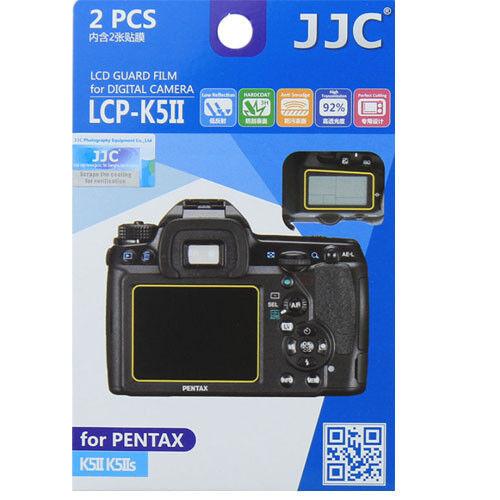 JJC LCP-K5II polycarbonate LCD Film Screen Protector For Pentax K5II K5 II 2PK