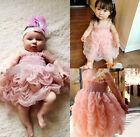 Charm Baby Girls Princess Party Sleeveless Ruffle Summer Bubble Tutu Dress 1-6Y
