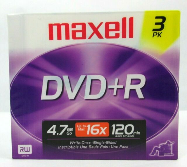 Maxell  DVD+R 5 pack 4.7GB 4X new and sealed