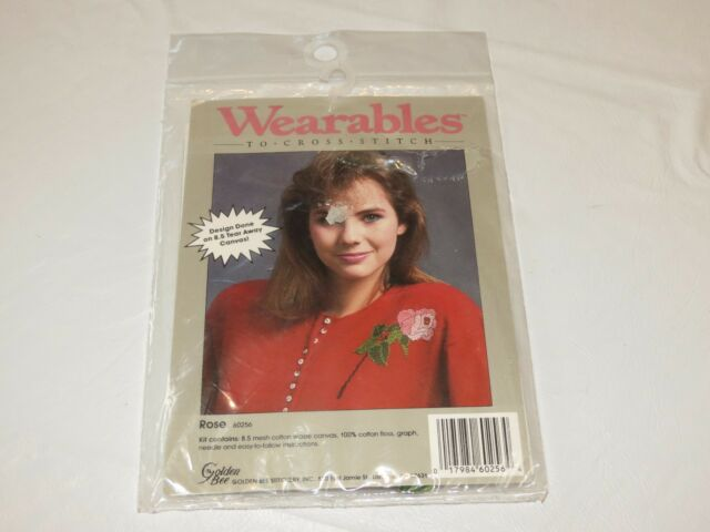Wearables To Cross stitch Rose 60256 for clothing kit RARE NOS new old stock