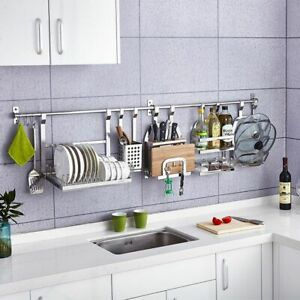 Image Is Loading Wall Hanging Kitchen Rack 1pc Stainless Steel Pot