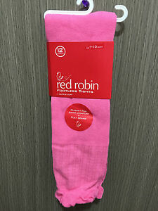 BNWT Red Robin Brand Girls Age 4-6 Years Cute Glitter Pink Footed Style Tights