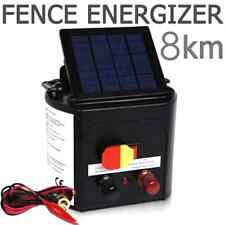 Electric Fence Energizer Charger with Solar Panel Portable Design for 8000m 0.3J