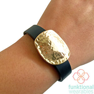 Rose Gold Charm to Accessorize Fitbit and Other Fitness Trackers SOPHIA Blue